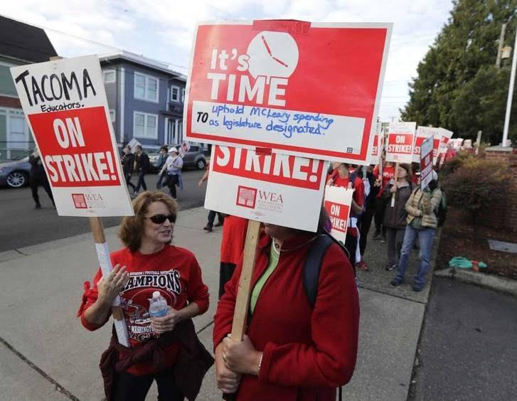 اعتصاب معلمان 4 - تصاویر/ اعتصاب معلمان در واشینگتن