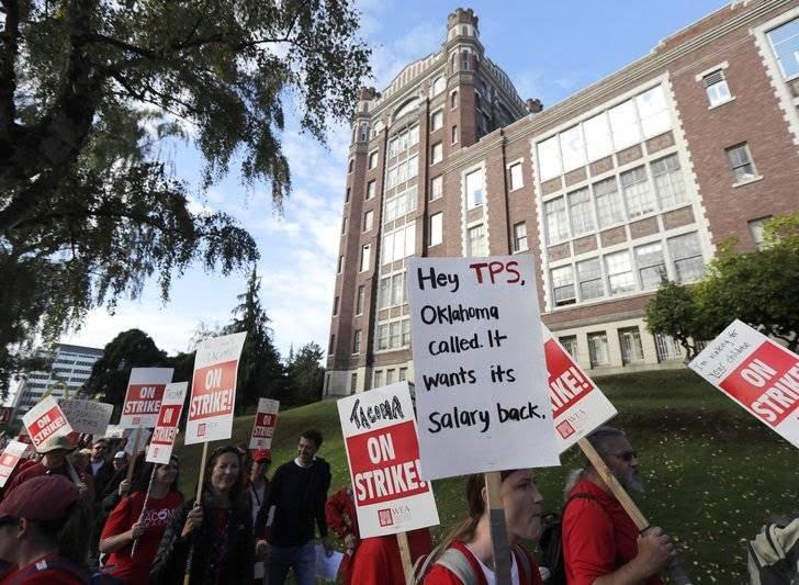 اعتصاب معلمان 5 - تصاویر/ اعتصاب معلمان در واشینگتن