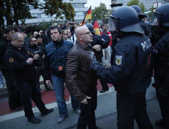 جرمنی3 - تصاویر/ تظاهرات ضد مهاجرتی در جرمنی