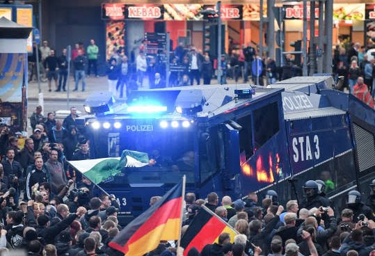 جرمنی6 - تصاویر/ تظاهرات ضد مهاجرتی در جرمنی