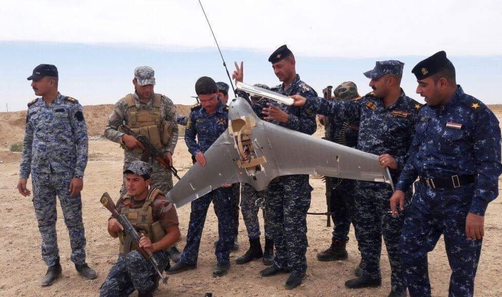 طیاره داعش - کشف یک فروند طیاره بی پیلوت گروه داعش در موصل