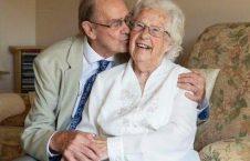 عروس و داماد پیر1 226x145 - ازدواج عاشقانه پیرترین عروس و داماد بریتانیا + تصاویر