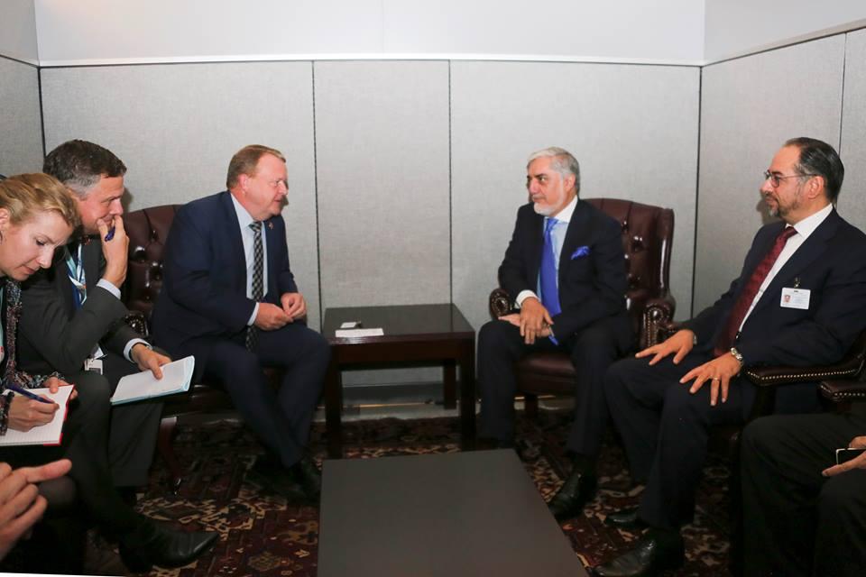 لارس لوک راسموسن - دیدارهای جداگانه عبدالله عبدالله با صدراعظم های دنمارک و بلجیم