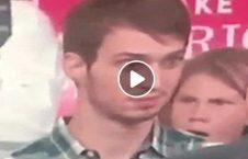 ویدیو واکنش عجیب دختر پسر ترمپ 226x145 - ویدیو/ واکنشهای عجیب یک دختر و پسر در حین سخنرانی ترمپ