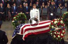 ویدیو وداع کانگرس امریکا جان مک کین 226x145 - ویدیو/ آخرین وداع کانگرس امریکا با پیکر جان مککین