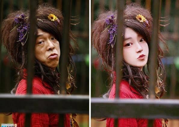 چینایی7 - چهره واقعی دختران زیبای چینایی را ببینید + تصاویر