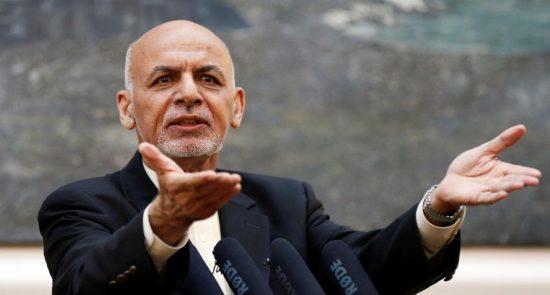 اشرف غنی 3 550x295 - هشدار رییس جمهور غنی به مداخله گران در پروسه انتخابات