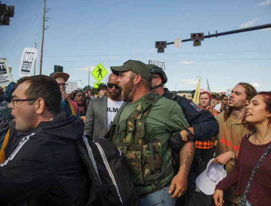 تظاهرات امریکا3 - تصاویر/ درگیری مظاهره کننده گان امریکایی با پولیس