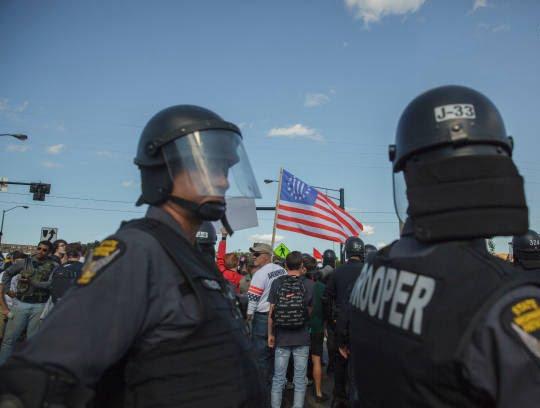 تظاهرات امریکا6 - تصاویر/ درگیری مظاهره کننده گان امریکایی با پولیس