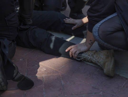 تظاهرات امریکا8 - تصاویر/ درگیری مظاهره کننده گان امریکایی با پولیس