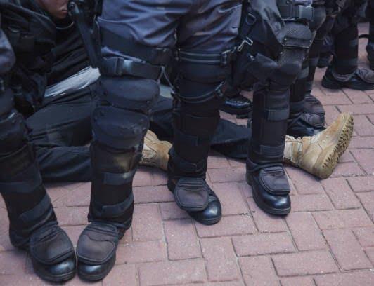 تظاهرات امریکا9 - تصاویر/ درگیری مظاهره کننده گان امریکایی با پولیس