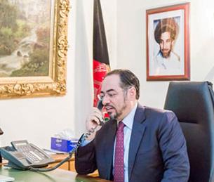 ربانی - گفتگوی تلیفونی صلاح الدین ربانی باهمتای پاکستانی اش
