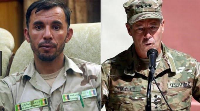 سکات میلر جنرال رازق - حضور محافظان امریکایی مسلح در جلسه با مقامات افغانستان