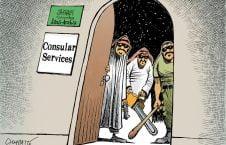 کاریکاتور/ خدمات قونسولی عربستان!