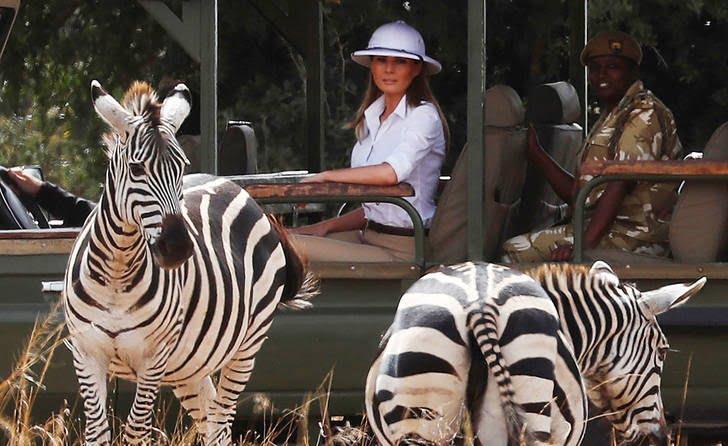 ملانیا ترمپ5 - تصاویر/ سفر جنجالی ملانیا ترمپ!