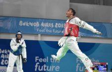کسب مدال برونز توسط تکواندو کار کشورمان در بازی های المپیک جوانان