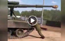 ویدیو تلاش عساکر برای متوقف کردن تانک 226x145 - ویدیو/ تلاش عساکر برای متوقف کردن تانک!