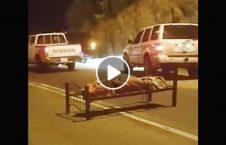 ویدیو جنازه وسط سرک رها 226x145 - ویدیو/ جنازه ای که در وسط سرک رها شد!