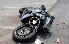 مرگ دردناک موترسایکل امریکا 226x145 - ویدیو/ مرگ دردناک موترسایکل سوار امریکایی
