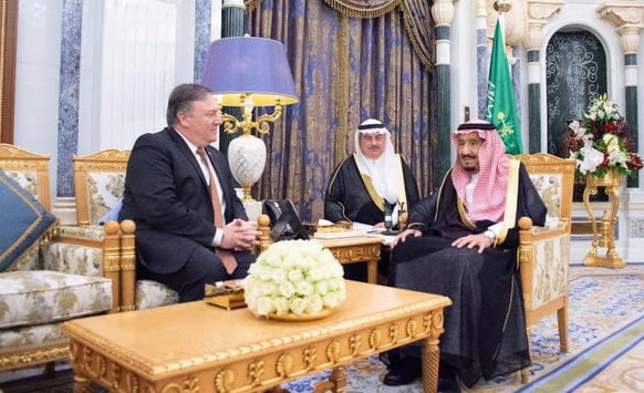 پومپئو - دیدار وزیر خارجه امریکا با پادشاه عربستان سعودی