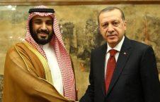 اردوغان بن سلمان 226x145 - پیام ولیعهد عربستان به رییس جمهور اردوغان