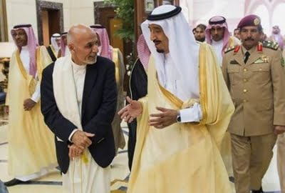 اشرف غنی عربستان - تلاش اشرف غنی برای اجرای فرامین عربستان در افغانستان