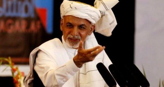 اشرف غنی 1 550x295 - نامزدی دوباره اشرف غنی در انتخابات برای گسترش جنگ در افغانستان