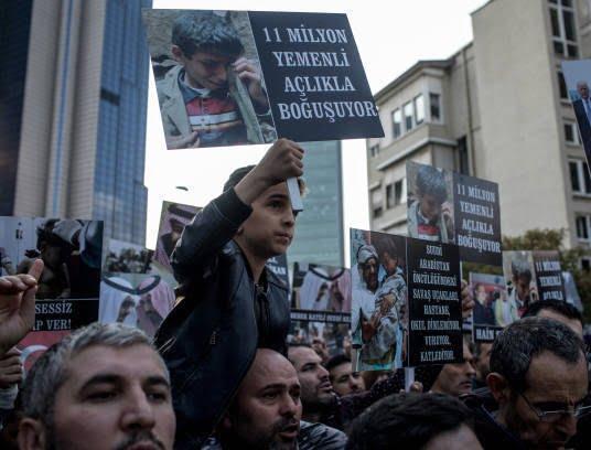 ترکیه 3 - تصاویر/ اعتراض مردم ترکیه به نسل کشی عربستان در یمن