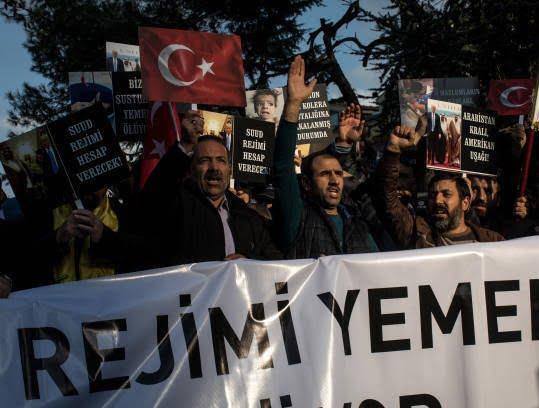 ترکیه 4 - تصاویر/ اعتراض مردم ترکیه به نسل کشی عربستان در یمن