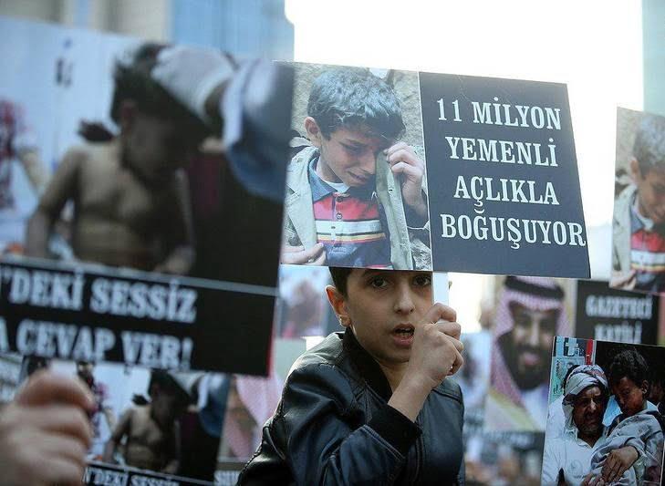 ترکیه9 - تصاویر/ اعتراض مردم ترکیه به نسل کشی عربستان در یمن