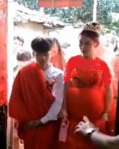 دختر حامله 2 - ازدواج جنجالی دختر حامله چینایی! + تصاویر