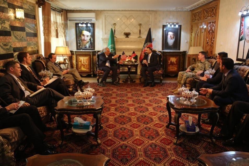 عطا محمد نور2 - تصاویر/ دیدار ۳ مقام ارشد امریکایی با عطا محمد نور