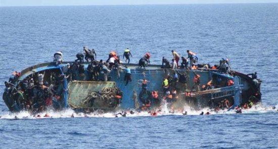 قایق 550x295 - غرق شدن قایق حامل پناهجویان افغان در آبهای ترکیه