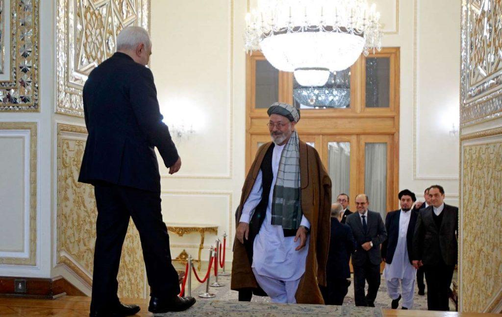 محمد کریم خلیلی 1 1024x646 - تصاویر/ دیدار محمد کریم خلیلی با وزیر امور خارجه ایران