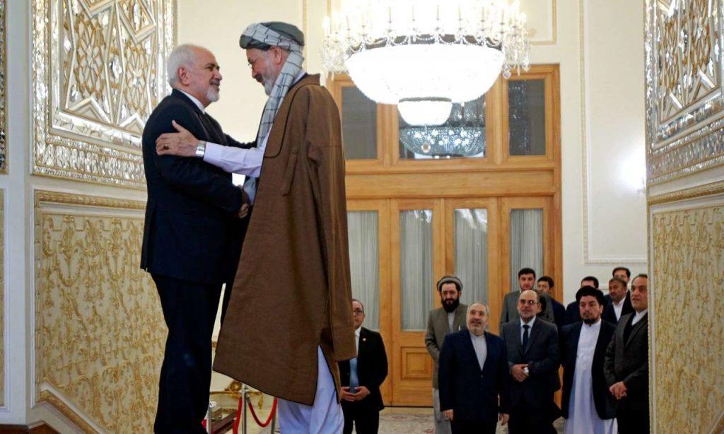 محمد کریم خلیلی 7 1024x614 - تصاویر/ دیدار محمد کریم خلیلی با وزیر امور خارجه ایران