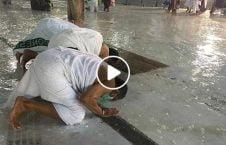 ویدیو اقامه نماز باران مسجدالحرام 226x145 - ویدیو/ اقامه نماز زیر بارش شدید باران در مسجدالحرام