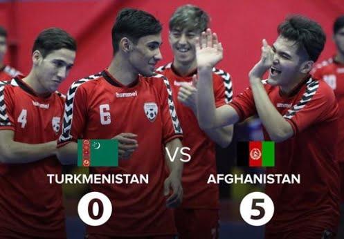 افغانستان ترکمنستان - تیم فوتسال زیر 20 سال کشورمان، ترکمنستان را در هم کوبید!