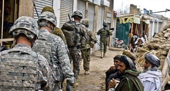 امریکا 1 550x295 - امریکا در پی کاهش شمار نظامیان اش در افغانستان