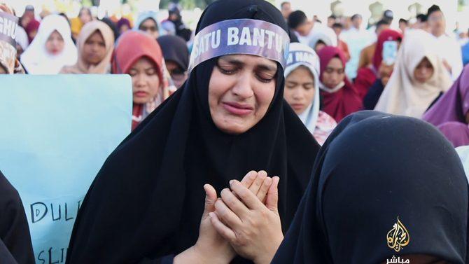 اویغور 3 - تصاویر/ اعتراض باشنده گان اندونزیا به سیاست های ضد اسلامی چین!