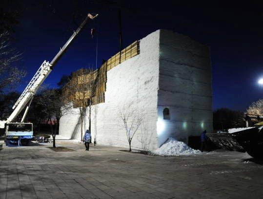 برف مصنوعی - تصاویر/ چینایی ها برف مصنوعی ساختند