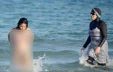 تصاویر/ برهنه شدن اجباری زنان مسلمان در سواحل فرانسه