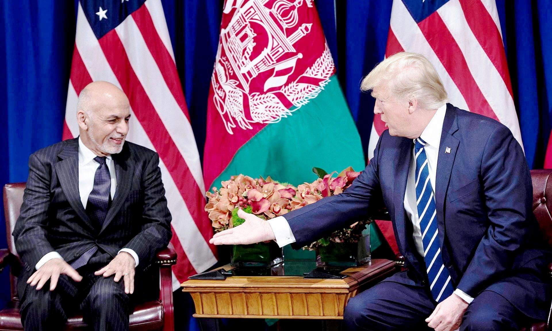 ترمپ اشرف غنی - حکومت وحدت ملی بدون امریکا دوام نمی آورد!