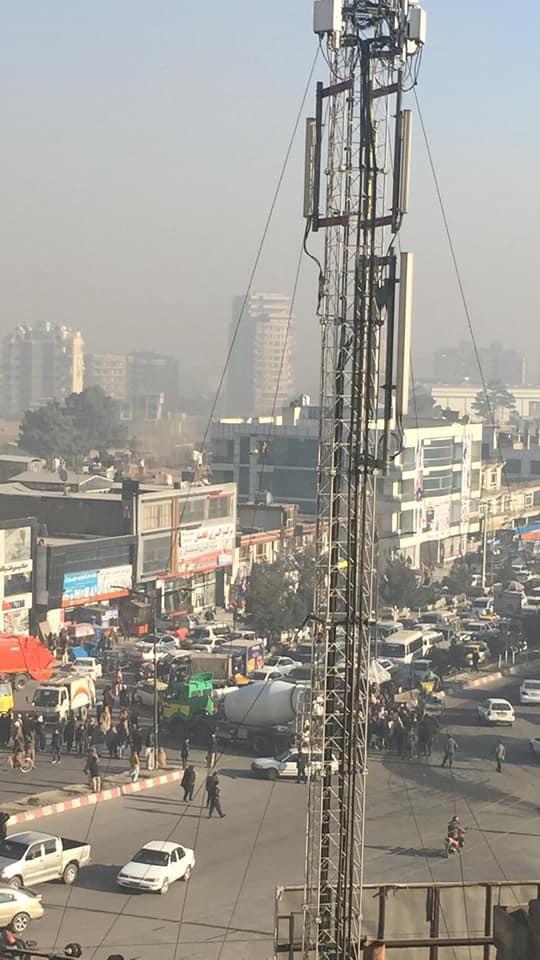 تظاهرات1 - تصاویر/ تجمع اعتراضی علیه سفارت پاکستان در کابل