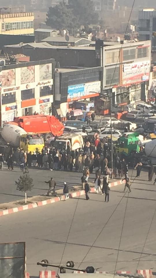 تظاهرات2 - تصاویر/ تجمع اعتراضی علیه سفارت پاکستان در کابل