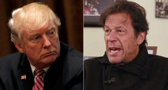 عمران خان ترمپ 550x295 - سیاست های دونالد ترمپ، پاکستان را به سوی چین، روسیه و حتی ایران هدایت می کند