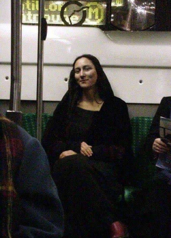 مونالیزا - تصویر/ شباهت باورنکردنی یک زن با مونالیزا