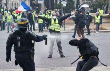 واسکت زرد 226x145 - لشکرکشی پولیس فرانسه برای مقابله با مردم!