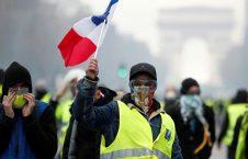 واسکت زرد 5 226x145 - تصاویر/ تجمع واسکت زردهای فرانسوی در سرک ها