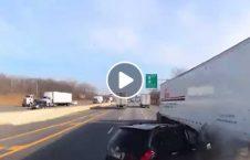 ویدیو حادثه راننده ایندیانا امریکا 226x145 - ویدیو/ حادثه وحشتناک راننده گی در ایندیانای امریکا