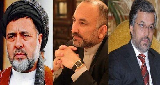 اتمر محقق قانونی 550x295 - توافق انتخاباتی حنیف اتمر با یونس قانونی و محمد محقق